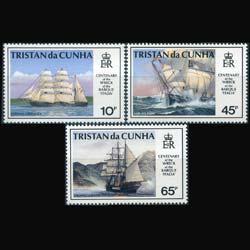 TRISTAN DA CUNHA 1992 - Scott# 517-9 Ships Set of 3 NH