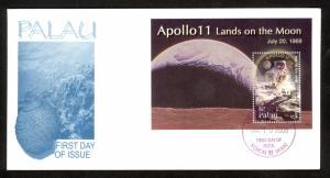 PALAU 2006 $2.00 APOLLO 11 Souvenir Sheet Sc 864 CACHET FDC