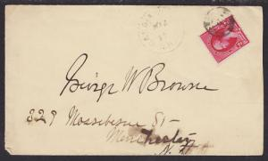 US Sc 220 on 1894 Candia Village, NH DPO Cover