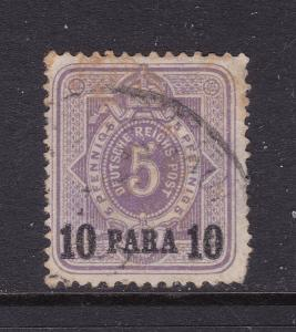 German PO's in Turkey an old 5pf with 10Para overprint used