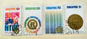 SINGAPORE 1973 PROSPERITY THRU QUALITY & RELIABILITY FINE USED