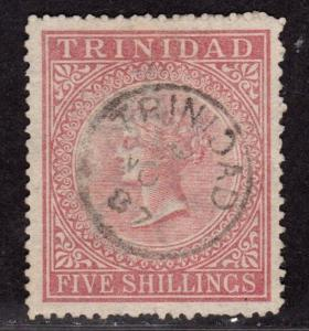 $Trinidad Sc#56 used, nice cancel, Cv. $90