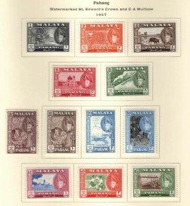 MALAYA-Pahang Scott 72-82 mixed MINT and Used set with (1 extra variety)