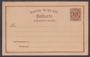 Germany Mi P4 mint 1873 2kr + 2kr Postal Reply Double Card