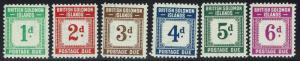 British Solomon Islands SG# D1-D6, Mint Lightly Hinged -  Lot 010216