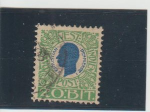 Danish West Indies  Scott#  33  Used  (1905 Christian IX)