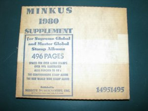 1980 Minkus Supreme Global Stamp Album Pages Supplement Unused complete A-Z