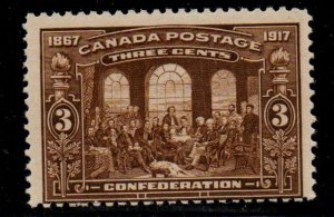 Canada Sc 135 1917 3c 50th Anniversary Confederation stamp mint