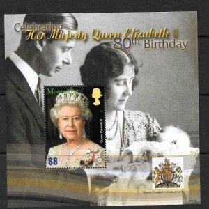MONTSERRAT SGMS1336 2006 80th BIRTHDAY OF QUEEN ELIZABETH MNH