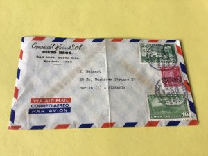 Costa Rica  1953 Airmail Stamps Cover Ref 53799