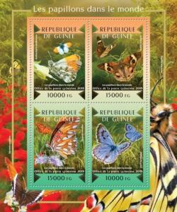 Guinea MNH S/S Butterflies Insects 2015