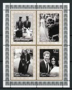 Tokelau 2018 MNH Prince Harry & Meghan Royal Wedding 4v M/S Royalty Stamps