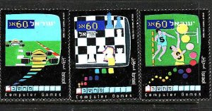 Israel-Sc#1068-70 -unused NH set-Computer Games-1990-