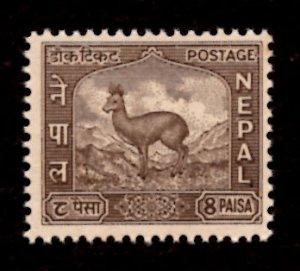 Nepal 1959-60 Nepalese Musk Deer Mountain Animals 8p Scott.108 MNH