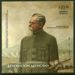 MEXICO 2655-2656 Centenary Mexican Revolution SOUVENIR SHEETS. MINT, NH. VF.