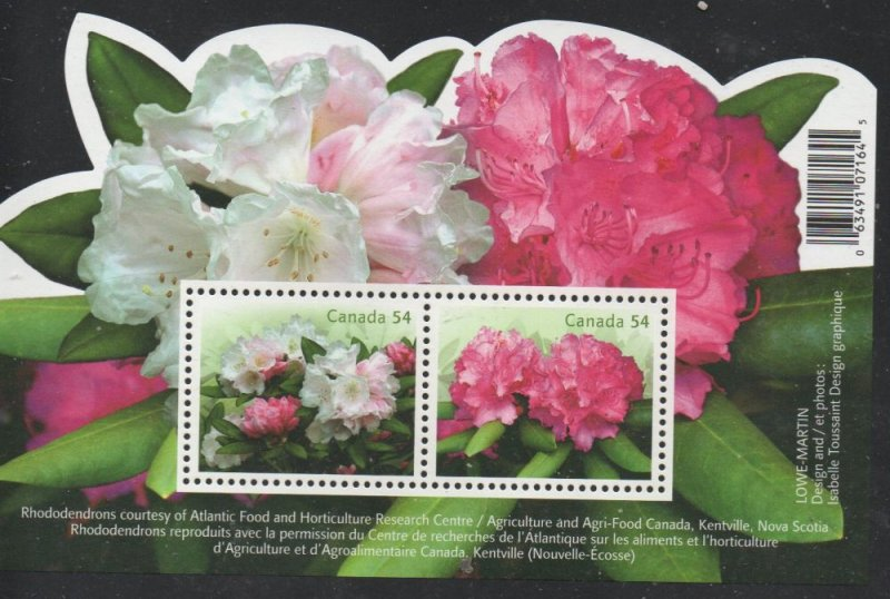 Canada Sc 2318 2009 Rhododendrons stamp sheet mint NH