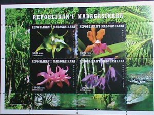 MADAGASCAR STAMP 1999 COLORFUL WORLD LOVELY ORCHIDS MNH S/S SHEET VERY FINE