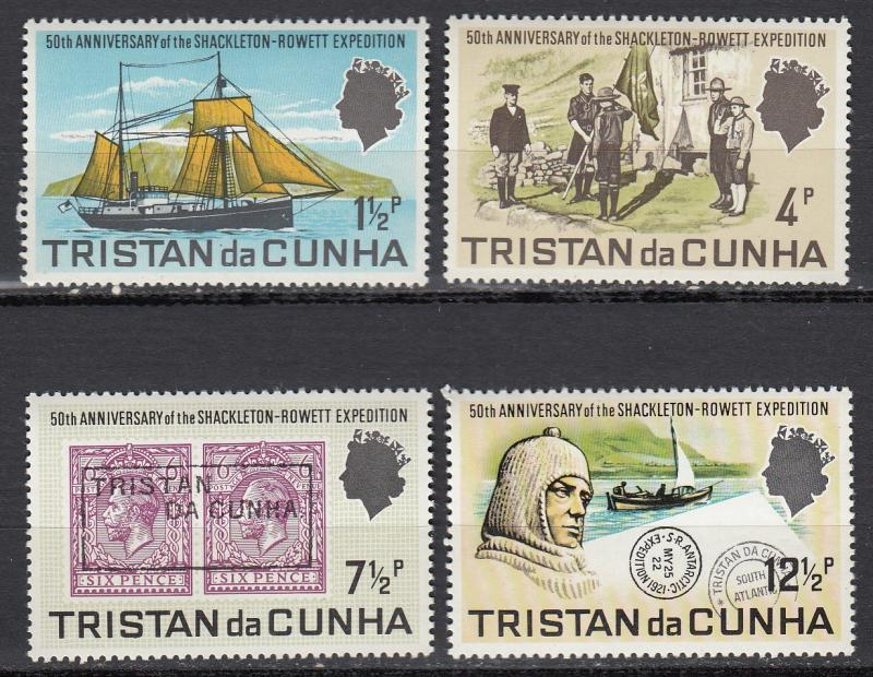 Tristan Da Cunha - 1971 South Atlantic expedition Sc# 153/156 - MH (1122)