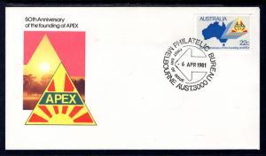 Australia 778 Apex U/A FDC