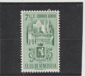 Venezuela  Scott#  C366  MH  (1951 Arms of Caracas)
