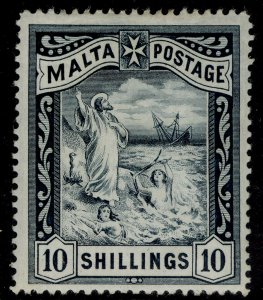 MALTA QV SG35, 10s blue-black, M MINT. Cat £100.
