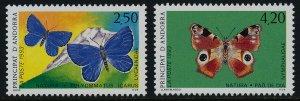 Andorra Fr 427-8 MNH Butterflies