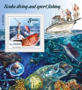 Sierra Leone MNH S/S Scuba Diving & Sport Fishing 2015