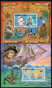 Djibouti 1980 Sc#519/520a  Capt .Cook & Endeavor Ships S/S (2) Perf.Fine Used