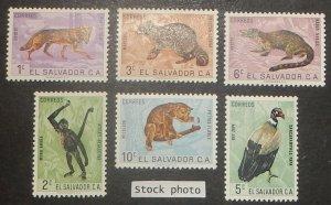 Salvador 738-43, C200-07. 1963 Wildlife, NH