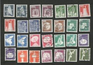 GERMANY - MNH SET + USED SET - DEFINITIVE - INDUSTRY - 1975. (50)
