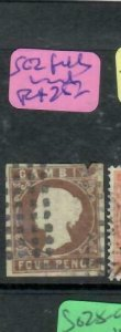 GAMBIA (P1412B)  QV 4D  SG 2 SPACEFILLER ANTIQUE OVER 100 YEARS OLD