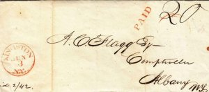 1842, Stampless: Kingston to Albany, NY (39530)