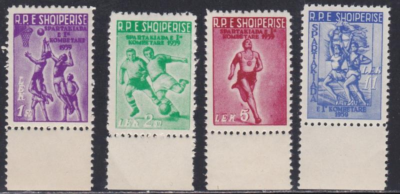 Albania # 544-547, Basketball, Soccer & other Sports, NH, 1/2 Cat.