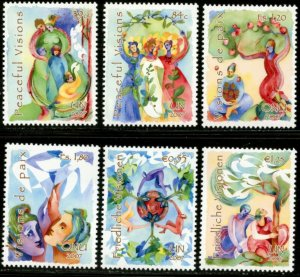 UNITED NATIONS Sc# NY 932-3 GE 470-1 VI 398-9 2007 Peaceful Visions MNH