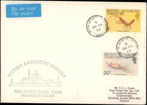 British Antarctic Territory #134, Antarctic Cachet and/or Cancel