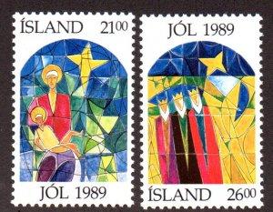 ICELAND 684-5 MNH SCV $2.40 BIN $1.45 RELIGION