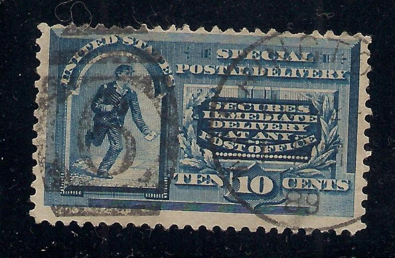 US#E2 Blue - Special Delivery - 1889 Cancel