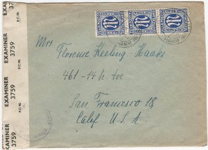 Germany A.M.G. 1946 Censored Cover from DINKER (Hamm, Westphalia) to California