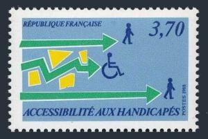 France 2114,MNH.Michel 2672. Aid to the Handicapped,1988.