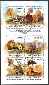 Mozambique 2011 Wild Cats Lions Sheet Used / CTO