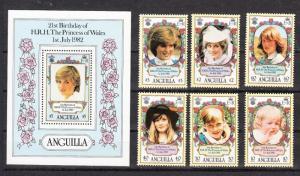 Anguilla Scott 485-491 Mint NH (Catalog Value $22.75)