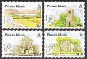 Pitcairn 332-335,MNH.Michel 356-359 LONDON-1990.Links with the UK.Discovers.