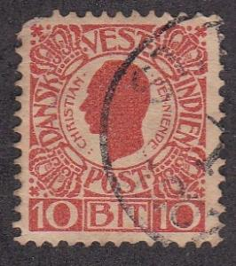 Danish West Indies # 32, King Christian IX, Used, 1/3 Cat.