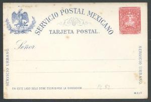MEXICO Early 2c postcard unused............................................66166