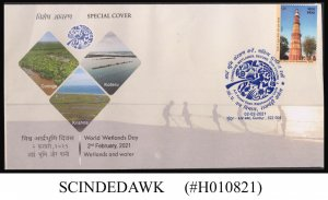 INDIA - 2021 WORLD WETLANDS DAY SPECIAL COVER WITH CANCELLATION