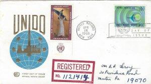 United Nations NY C13  FDC Geneva Cachet W/#184 Added for Registration
