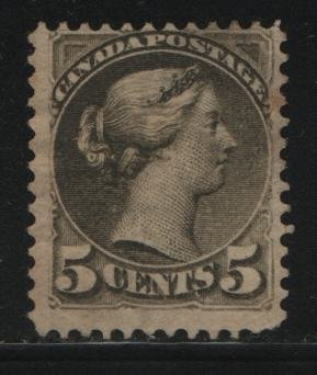 Canada, 38, NO GUM, 1870-89 Queen Victoria