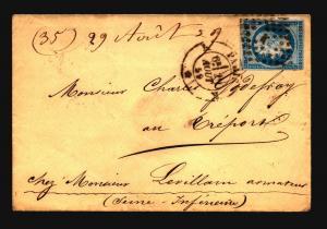 France 1859 Cover / Paris CDS (I) - Z15684