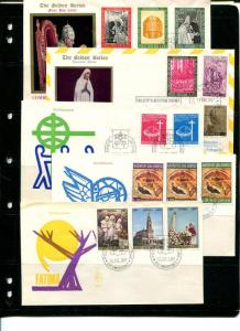 Vatican 1966/67 - 10 FDC , unaddressed VF - 50 cenets each !