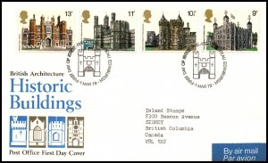 Great Britain 831-834 Architecture Typed FDC